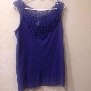 Lane Bryant - Violet Crochet Tank